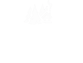 luxury log home lodging logo