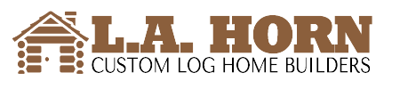 L.A. Horn Custom Log Home Builders logo