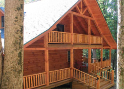 custom designed log homes